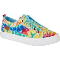 Girls Rainbow Play Slip On Sneakers