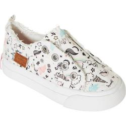 Girls Play-T Canvas Slip On Sneakers