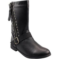 Girls Spicy Studded Faux Leather Boots