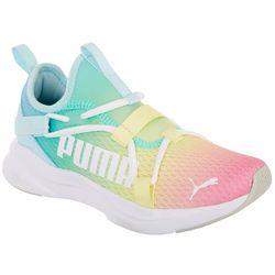 Puma Big Girls Softride Rift Slip Rainbow Athletic