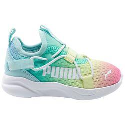 Puma Little Girls Softride Rift Slip Rainbow Athletic Shoes