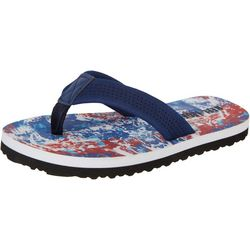 Reel Legends Little Boys Wade Americana Print Flip Flops