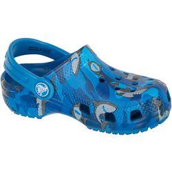 Crocs Toddler Boys Classic Shark Clogs