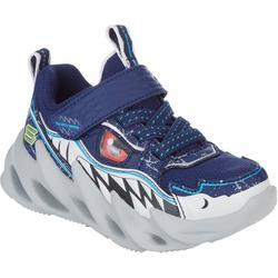 Kids Shark-Bots Gore & Strap Sneakers