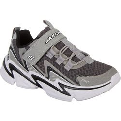Skechers Boys Wavetronic Athletic Velcro Shoes