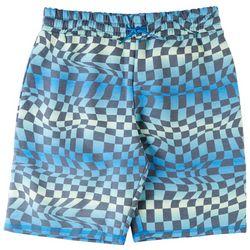 Bleached Big Boys Checkered Print Shorts