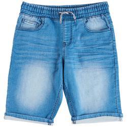 Big Boys Pull-On Denim Shorts