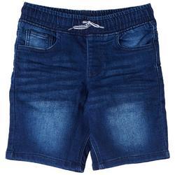 Little Boys Denim Pull-On Shorts
