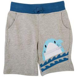 Seven Oaks Little Boys Shark Pocket Shorts