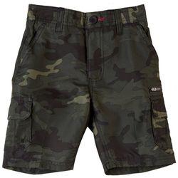Burnside Little Boys Zipper Camo Traveler Cargo Shorts