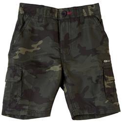 Little Boys Zipper Camo Traveler Cargo Shorts