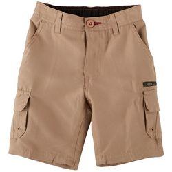 Burnside Little Boys Zipper Traveler Cargo Shorts
