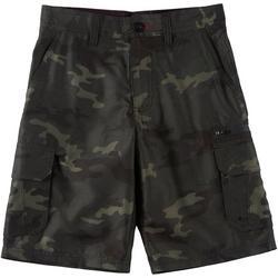 Big Boys Camo Print Traveler Cargo Shorts