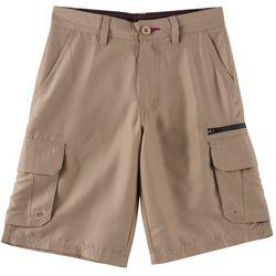 Burnside Big Boys Contrast Zip Traveler Cargo Shorts