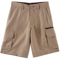 Big Boys Contrast Zip Traveler Cargo Shorts