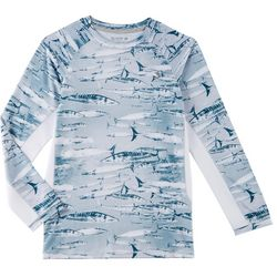 Reel Legends Little Boys Keep It Cool Swim Wahoo T-Shirt