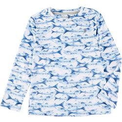 Reel Legends Little Boys Reel-Tec Fish Long Sleeve T-Shirt