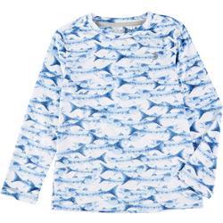 Little Boys Reel-Tec Fish Long Sleeve T-Shirt