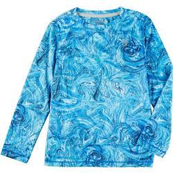 Little Boys Reel-Tec Marble Long Sleeve T-Shirt