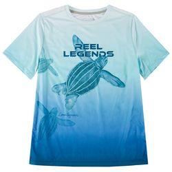 Reel Legends Big Boys Lea Szymanski Sea Turtle T-Shirt