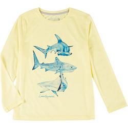 Big Boys Long Sleeve Reel-Tec Shark T-Shirt