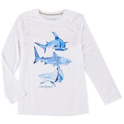 Reel Legends Big Boys Long Sleeve Reel-Tec Shark Tee