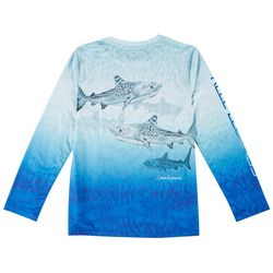 Reel Legends Big Boys Long Sleeve Tigre T-shirt