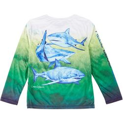 Reel Legends Big Boys Reel-Tec Shark Summer T-Shirt