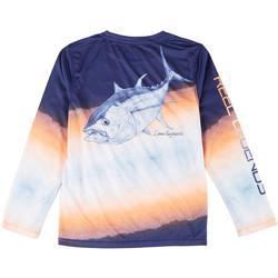 Big Boys Long  Sleeve Tom The Tuna T-Shirt
