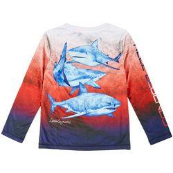 Reel Legends Little Boys Long Sleeve Shark T-shirt