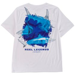 Reel Legends Big Boys Lea Szymanski Shark Trio T-Shirt