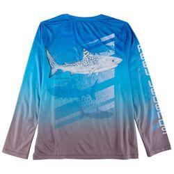 Reel Legends Big Boys Lea Szymanski Tiger Shark T-Shirt