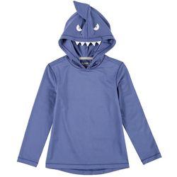 Reel Legends Little Boys Reel-Tec Shark Hooded T-Shirt