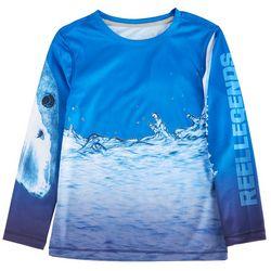 Reel Legends Little Boys Long Sleeve Bite T-shirt