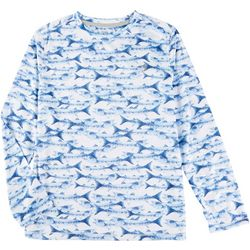 Reel Legends Big Boys Reel-Tec Fish Long Sleeve T-Shirt