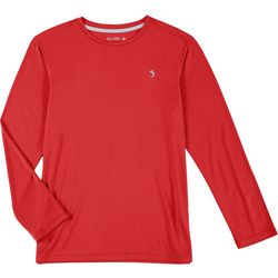 Reel Legends Big Boys Reel-Tec Solid Long Sleeve T-Shirt