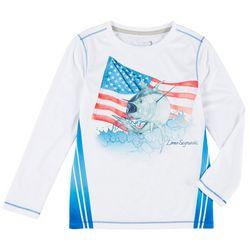 Reel Legends Big Boys Yellowfin God Bless T-Shirt