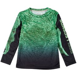 Reel Legends Little Boys Long Sleeve Reel-Tec Frenzy Tee