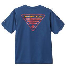 Columbia Big Boys PFG Pier Screen Print T-Shirt