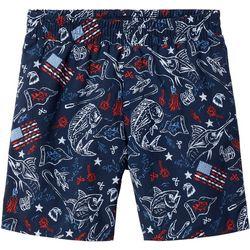 Columbia Big Boys PFG Patriotic Fish Backcast Shorts