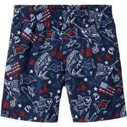 Big Boys PFG Patriotic Fish Backcast Shorts