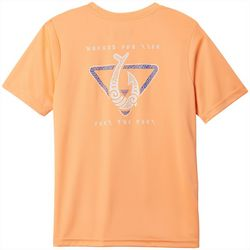 Columbia Big Boys Short Sleeve Solid PFG Hooked T-Shirt
