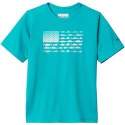 Big Boys PFG Americana Finatic Short Sleeve T-Shirt