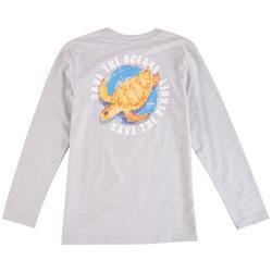 Big Boys Save The Oceans Long Sleeve T-Shirt