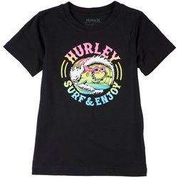 Hurley Little Boys Shark Barrel Wave T-Shirt