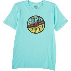 Little Boys Skull Beach T-Shirt
