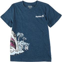Little Boys Shark Beach T-Shirt
