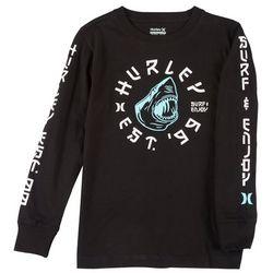 Hurley Big Boys Long Sleeve Kaiju T-shirt