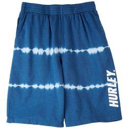 Hurley Big Boys Tie Dye Logo Pull On Shorts