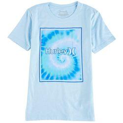 Hurley Big Boys Rectangular Icon Tie Dye T-Shirt